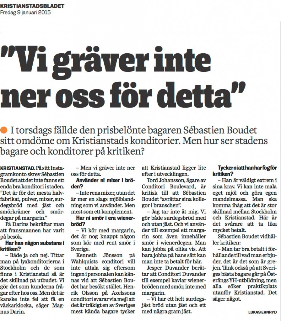 Kristianstadsbladet svar